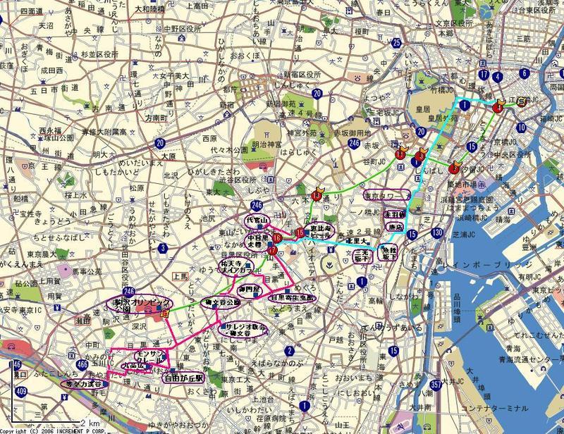 自転車の 自転車 マップ検索 : まず、日本橋人形町から、集合 ...